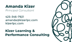 Kizer Learning & Performance Consulting Advertisement