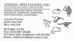 Animal Specialties Inc Advertisement
