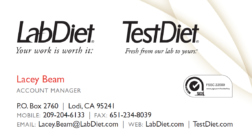 Purina Lab Diet Advertisement Advertisement